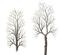 BUSCH BUS6158   HO SCALE   4 winter deciduous trees