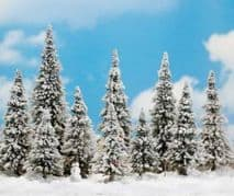 BUSCH BUS6465  HO SCALE  10 Snowed Trees And Snowman