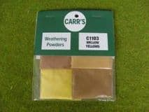 CARR'S C1103 Mellow Yellows Weathering Powders