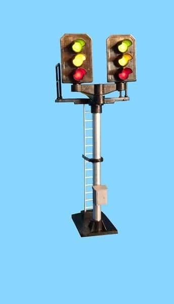1st Post Berko BH05 OO Gauge 4mm Red//Yellow//Green//Yellow Round Head Signal