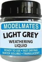 MODELMATES 49200 WEATHERING LIQUID LIGHT GREY 22ml JAR