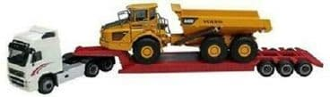 OXFORD DIECAST CARARAMA CR185003 1:87 SCALE Volvo FH12 with A40D Earth Mover