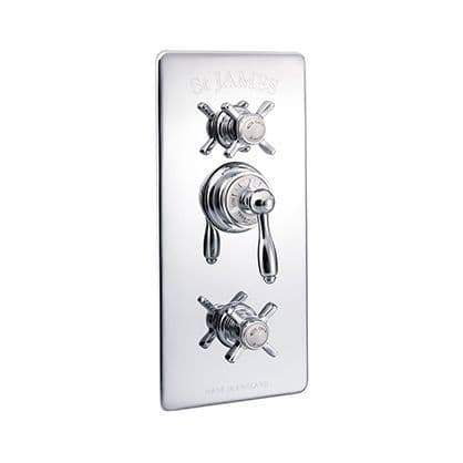Concealed Thermostatic Shower Valves With 2 Function Diverter & Integral Flow Valve