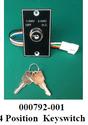 000792001 ASD2000 4 Position Key Switch